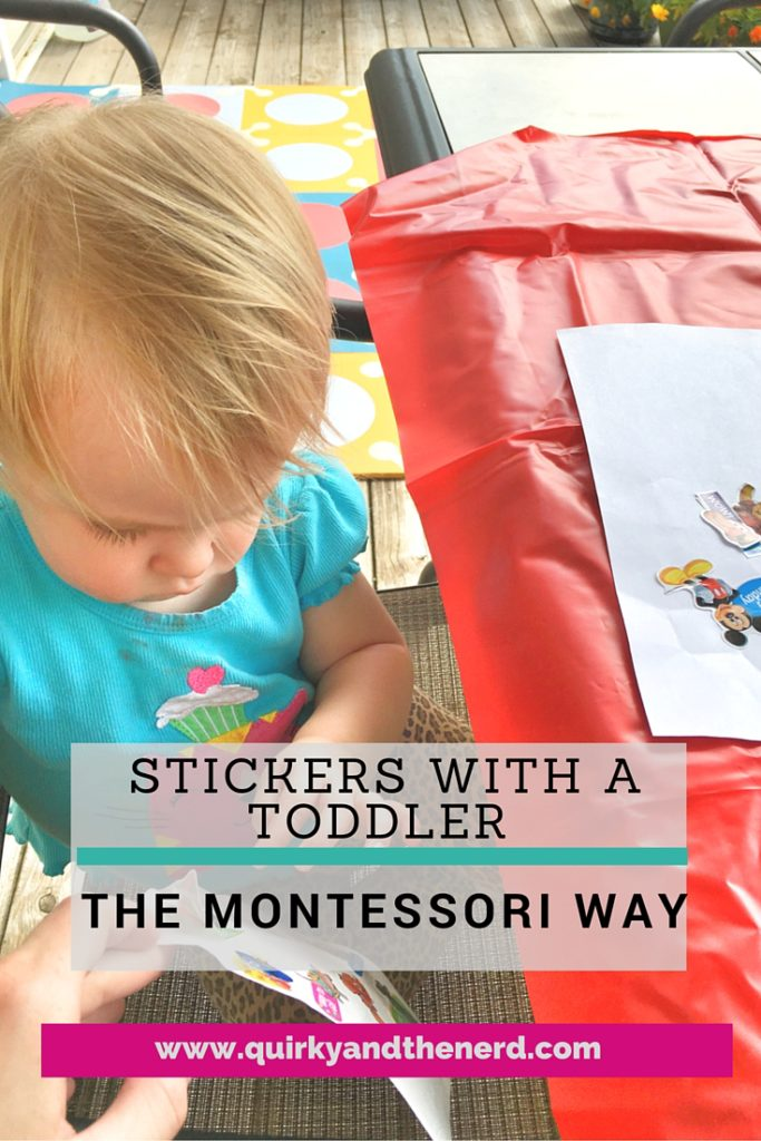 Stickers With Toddlers A Fine Motor Montessori Activity Quirky